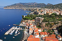 GV, general view, Sorrento, Italy, from rooftop restaurant, Hotel Bristol, September, 2015, 201509161568<br /> <br /> Copyright Image from Victor Patterson, 54 Dorchester Park, Belfast, UK, BT9 6RJ<br /> <br /> t1: +44 28 9066 1296<br /> t2: +44 28 9002 2446<br /> m: +44 7802 353836<br /> e: victorpatterson@me.com<br /> <br /> www.victorpatterson.com<br /> <br /> IMPORTANT: Please see my Terms and Conditions of Use at www.victorpatterson.com
