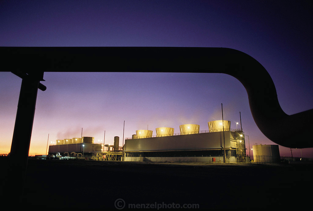 Alternative Energy: Geothermal Power Plant east of El Centro, California in the Imperial Valley. (1990).