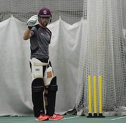 Somerset's Jack Leach. - Mandatory byline: Alex Davidson/JMP - 25/02/2016 - CRICKET - The Cooper Associates County Ground -Taunton,England - Somerset CCC  Media access - Pre-Season