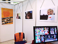 Warsaw, Poland - 2016 October 17: Photo Exhibition by photographer Adam Nurkiewicz, called Big Blue on Press Photo Expo stand during Beiks Media Show 2016 at Gromada Hotel on October 17, 2016 in Warsaw, Poland.<br /> <br /> Adam Nurkiewicz declares that he has no rights to the image of people at the photographs of his authorship.<br /> <br /> Picture also available in RAW (NEF) or TIFF format on special request.<br /> <br /> Any editorial, commercial or promotional use requires written permission from the author of image.<br /> <br /> Mandatory credit:<br /> Photo by © Adam Nurkiewicz / Mediasport