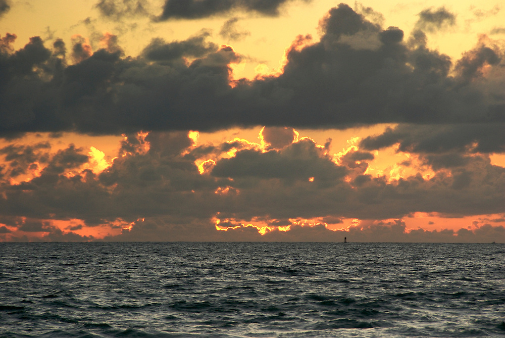Ocean and Sky at dawn in Miami Beach