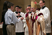 Bishop Salvatore R. Matano during the Chrism Mass at Sacred Heart Cathedral in Rochester on Tuesday, March 31, 2015.