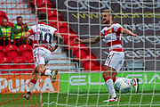 Goal Jon Taylor Of Doncaster Rovers Celebrate as he scores a goal to make it 2-0 during the EFL Sky Bet League 1 match between Doncaster Rovers and Bristol Rovers at the Keepmoat Stadium, Doncaster, England on 19 October 2019.