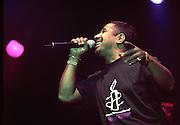 Khaled.<br /> Algerian ra&iuml; singer-songwriter and multi-instrumentalist.<br /> WOMAD Festival, Reading, England, July 2003.