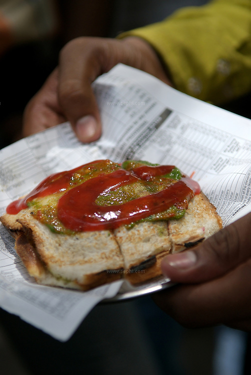 The famous Mumbai grilled veg sandwich
