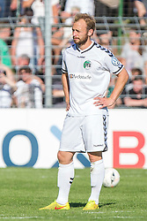 09.08.2015, Stadion Lohmühle, Luebeck, GER, DFB Pokal, VfB Luebeck vs SC Paderborn 07, 1. Runde, im Bild Dennis Wehrendt (Nr. 4, VfB Luebeck) nach dem Spiel // during German DFB Pokal first round match between VfB Luebeck vs SC Paderborn 07 at the Stadion Lohmühle in Luebeck, Germany on 2015/08/09. EXPA Pictures © 2015, PhotoCredit: EXPA/ Eibner-Pressefoto/ KOENIG<br /> <br /> *****ATTENTION - OUT of GER*****