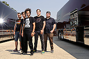 Motion City Soundtrack photographed backstage on Warped Tour at Nassau Coliseum, NYC. July 17, 2010. Copyright © 2010 Matt Eisman. All Rights Reserved.