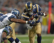 St. Louis running back Steven Jackson (39) during action at the Edward Jones Dome in St. Louis, Missouri, October 15, 2006.  The Seahawks beat the Rams 30-28.<br />