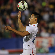 Bobby Shou Wood , USA, in action during the USA Vs Ecuador International match at Rentschler Field, Hartford, Connecticut. USA. 10th October 2014. Photo Tim Clayton