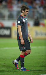 NOVI SAD, SERBIA - Tuesday, September 11, 2012: Wales' Sam Ricketts looks dejected as his side lose 6-1 against Serbia during the 2014 FIFA World Cup Brazil Qualifying Group A match at the Karadorde Stadium. (Pic by David Rawcliffe/Propaganda)