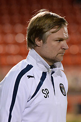 Coventry City manager, Steven Pressley - Photo mandatory by-line: Mitchell Gunn/JMP - Tel: Mobile: 07966 386802 08/10/2013 - SPORT - FOOTBALL - Brisbane Road - Leyton - Leyton Orient V Coventry City - Johnstone Paint Trophy