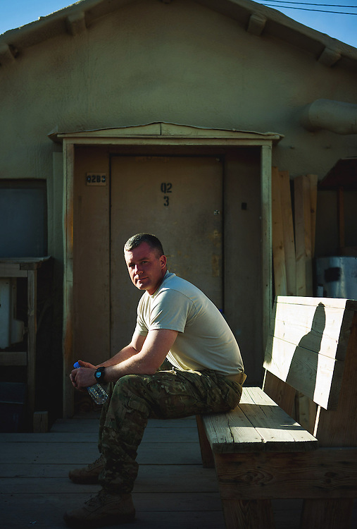 Sgt. Damian Broderson, Iowa National Guard's 2nd Brigade Combat Team, 34th Infantry Division in Gardez, Afghanistan<br /> <br /> Chicago Freelance Documentary Photographer | Alyssa Schukar | Photojournalist