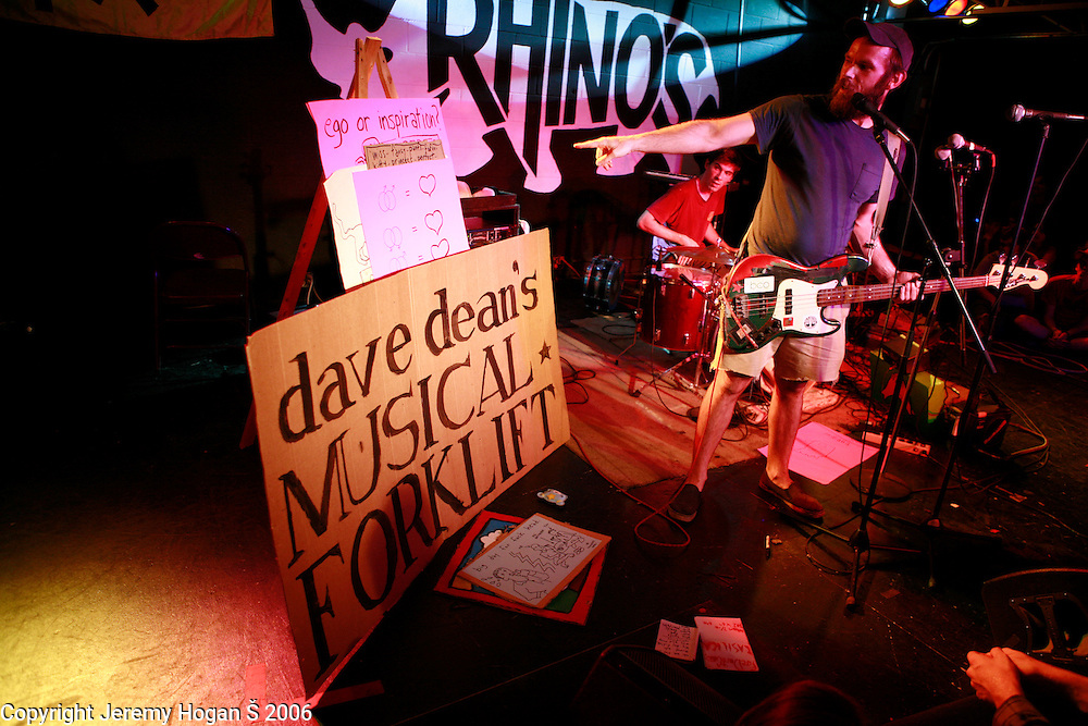 Dave Dean performs at Rhino's all ages club during the July 2006 Plan-it-X Festival in Bloomington, Indiana. ..