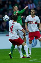 27.11.2011, Weser Stadion, Bremen, GER, 1.FBL, Werder Bremen vs VFB Stuttgart, im BildWilliam Kvist (Stuttgart #4) Marko Arnautovic (Bremen #7). // during the Match GER, 1.FBL, Werder Bremen vs VFB Stuttgart, Weser Stadion, Bremen, Germany, on 2011/11/27.EXPA Pictures © 2011, PhotoCredit: EXPA/ nph/ Kokenge..***** ATTENTION - OUT OF GER, CRO *****