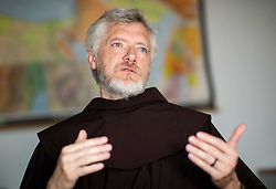 Portrait of Franciscan p. Miran Spelic OFM, on August 6, 2020 in  Ljubljana, Slovenia. Photo by Vid Ponikvar / Sportida