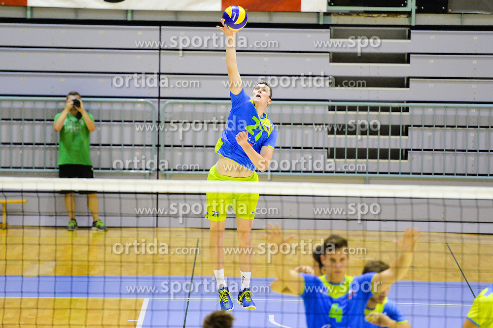 Toncek Stern of Slovenia during the Friendly Volleyball match between OK Panvita Pomgrad and U21 Nationalteam of Slovenia on August 28, 2015 in Murska Sobota, Slovenia. Photo by Mario Horvat / Sportida