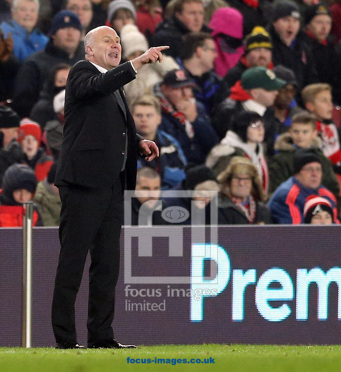 Hull City manager Mike Phelan during the Premier League match at the Riverside Stadium, Middlesbrough<br /> Picture by Simon Moore/Focus Images Ltd 07807 671782<br /> 05/12/2016