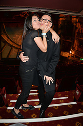 LAILA ROUASS and GOK WAN at a VIP evening for the pantomime Aladdin at The New Wimbledon Theatre, The Broadway, Wimbledon, London SW19 on 9th December 2013.