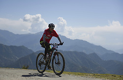 October 3, 2018 - Himachal Pradesh, India - Pragyaal Sharma of India competes at the 14th edition of the Hero MTB Himalaya mountain bike race in the northern Indian state of Himachal Pradesh on 4th  October, 2018. The 14th edition of the annual cross country race is taking place over eight stages in the foothills of the Himalaya, started in Shimla on September 28, 2018 and finishing in Dharamshala on October 6,2018. (Credit Image: © Indraneel Chowdhury/NurPhoto/ZUMA Press)
