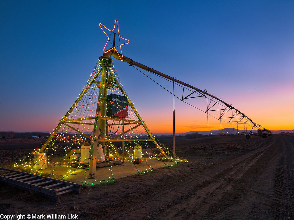 Celebrating Christmas in the farm country of the Snake River Plane, along the Idaho Oregon border.