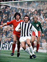 Jeff Astle (West Bromwich Albion). 7/8/71, Watney Cup Final. West Bromwich Albion v Colchester United. Credit: Colorsport.