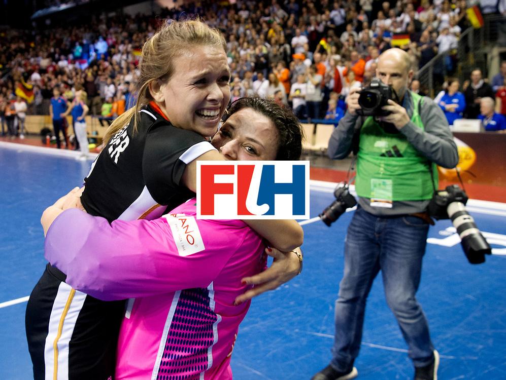 BERLIN - Indoor Hockey World Cup<br /> Final: Netherlands - Germany<br /> foto: Anne Schroeder and Rosa Krueger.<br /> WORLDSPORTPICS COPYRIGHT FRANK UIJLENBROEK