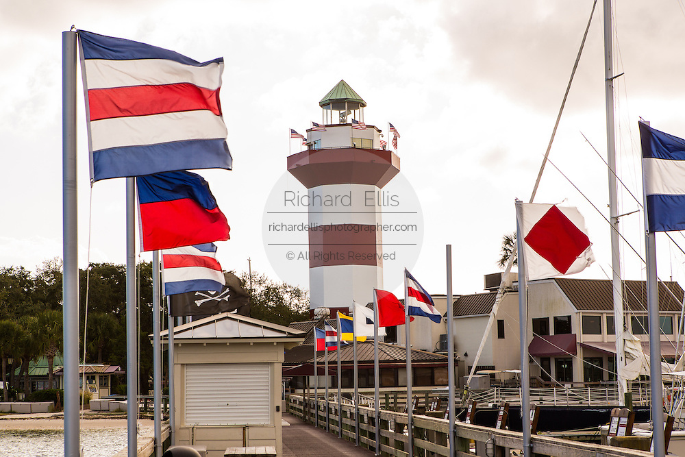 Harbor Town lighthouse at Sea Pines Plantation on Hilton Head Island, SC