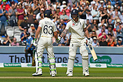 50 - Ben Stokes of England is congratulated by Jos Buttler of England as he celebrates scoring a half century during the International Test Match 2019 match between England and Australia at Lord's Cricket Ground, St John's Wood, United Kingdom on 18 August 2019.