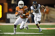 AUSTIN, TX - SEPTEMBER 19:  Armanti Foreman #3 of the Texas Longhorns breaks free against the California Golden Bears on September 19, 2015 at Darrell K Royal-Texas Memorial Stadium in Austin, Texas.  (Photo by Cooper Neill/Getty Images) *** Local Caption *** Armanti Foreman