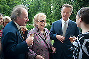 DAVID CAMPBELL; LADY ANTONIA PINTER; EDWARD ST. AUBYN; , David Campbell and Knopf host the 20th Anniversary of the revival of Everyman's Library. Spencer House. St. James's Place. London. 7 July 2011. <br /> <br />  , -DO NOT ARCHIVE-© Copyright Photograph by Dafydd Jones. 248 Clapham Rd. London SW9 0PZ. Tel 0207 820 0771. www.dafjones.com.