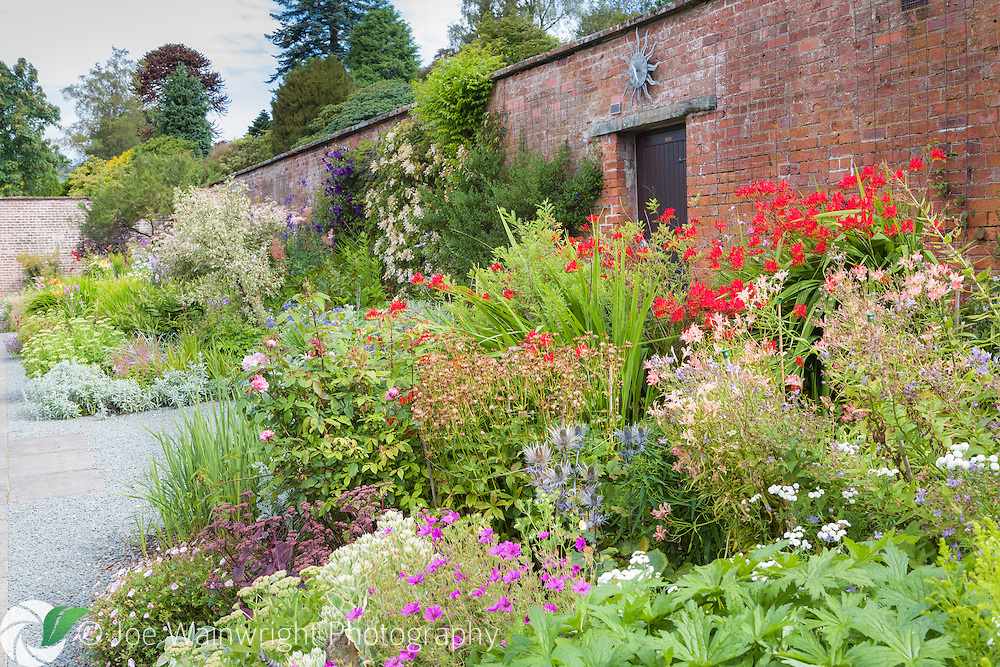 Originally a kitchen garden, the Walled garden at Holehird Gardens, Cumbria, was developed by the Lakeland Horticultural Society in the 1980s.