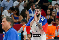 Ziga Dimec of Slovenia celebrating after winning during the Final basketball match between National Teams  Slovenia and Serbia at Day 18 of the FIBA EuroBasket 2017 at Sinan Erdem Dome in Istanbul, Turkey on September 17, 2017. Photo by Vid Ponikvar / Sportida