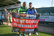 Forest Green Rovers Shamir Mullings(18) and Forest Green Rovers Omar Bugiel(11) during the Vanarama National League Play Off second leg match between Forest Green Rovers and Dagenham and Redbridge at the New Lawn, Forest Green, United Kingdom on 7 May 2017. Photo by Shane Healey.