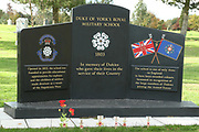 The Duke of York's Royal Military School Memorial at the National Memorial Arboretum, Croxall Road, Alrewas, Burton-On-Trent,  Staffordshire, on 29 October 2018. Picture by Mick Haynes.