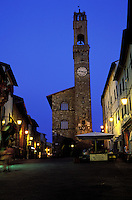 Italie - Toscane - Province de Sienne - Village de Montalcino - Palais communal - Mairie // Montalcino, Tuscany,  Italy