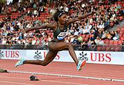 Caterine Ibarguen (COL) wins the women's triple jump at 47-9 1/4 (14.56m) during the Weltklasse Zurich in an IAAF Diamond League meeting at Letzigrund Stadium in Zurich, Switzerland on Thursday, August 30, 2018.(Jiro Mochizuki/Image of Sport)