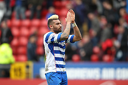 Reading's Daniel Williams thanks the fans at the end of the match - Photo mandatory by-line: Robin White/JMP - Tel: Mobile: 07966 386802 05/04/2014 - SPORT - FOOTBALL - The Valley - Charlton - Charlton Athletic v Reading - Sky Bet Championship