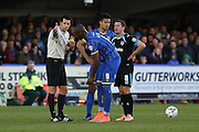 Tom Elliott forward for AFC Wimbledon (9) in action during the Sky Bet League 2 match between AFC Wimbledon and Portsmouth at the Cherry Red Records Stadium, Kingston, England on 26 April 2016. Photo by Stuart Butcher.