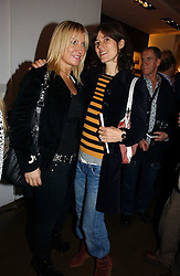 Left to right, MEG MATHEWS and BELLA FREUD at Forever Marilyn an exhibition of a art associated with Marilyn Monroe in aid of Save The Children held at Scream, Bruton Street, London on 23rd October 2006.<br />