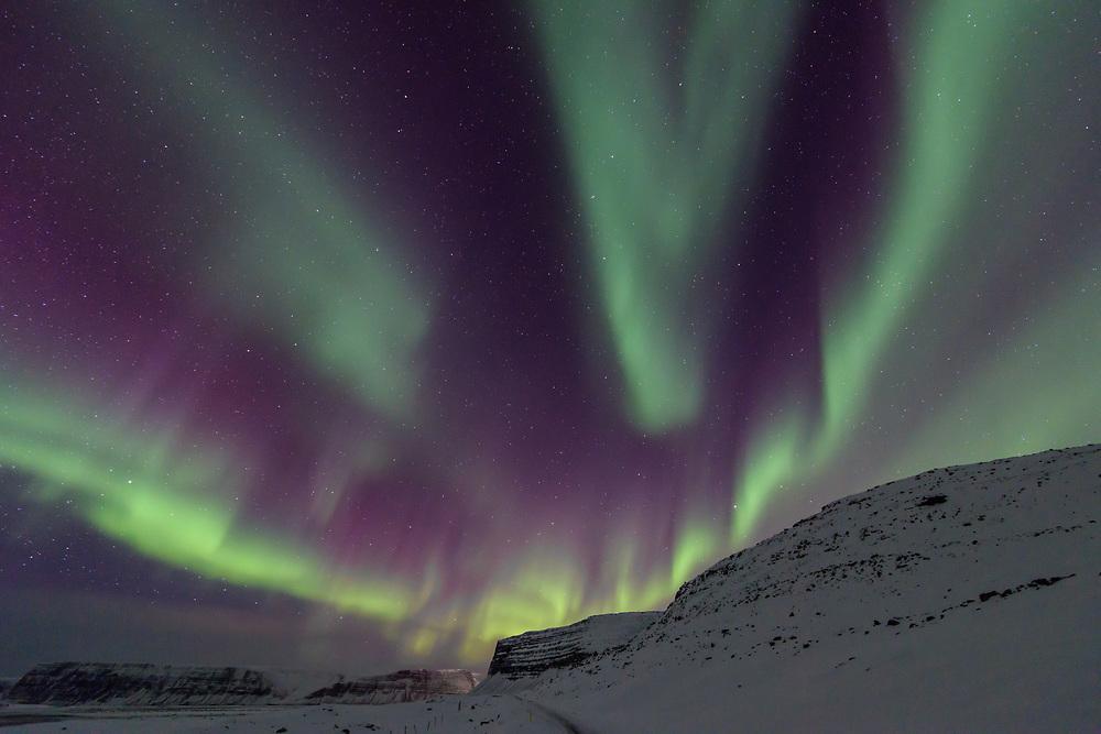 Aurora over Patreksfjörður, Iceland
