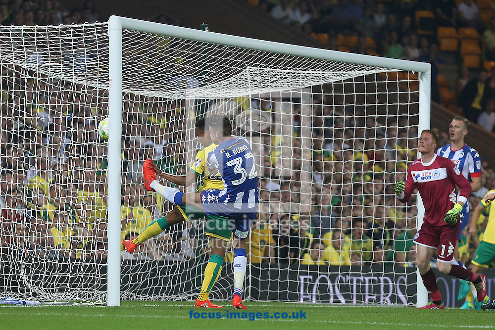 Jacob Murphy of Norwich scores his sides 2nd goal during the Sky Bet Championship match at Carrow Road, Norwich<br /> Picture by Paul Chesterton/Focus Images Ltd +44 7904 640267<br /> 13/09/2016