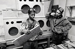 Teenage boys doing carpentry Nottingham UK 1989