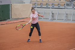 Simona Halep, training ahead the Roland Garros French Open tournament, on May 21, 2019 in Paris, France. Photo by ABACAPRESS.COM
