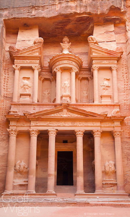 Hewn from solid rock, The Chancellery of the lost city of Petra, Jordan