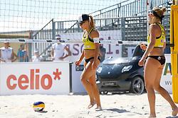 20140604 ITA: EK Beachvolleybal, Cagliari<br /> Laura Bloem, Marloes Wesselink<br /> ©2014-FotoHoogendoorn.nl / Pim Waslander