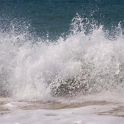 Summer surf on Sand Beach in Maine USA