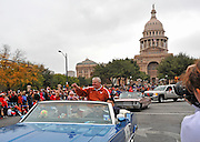 UT Football Coach Darrell K. Royal at the 20th Annual Chuy's Children Giving to Children Parade, Austin, Texas, November 29, 2008. Chuy's is a Tex Mex restaurant in Austin.  The Children Giving to Children Parade features gifts given by the viewers to Operation Blue Santa.