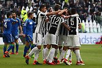 04.02.2018 - Torino - Serie A 2017/18 - 23a giornata  -  Juventus-Sassuolo nella  foto: l'esultanza dei giocatori della Juventus
