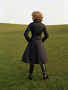 08/02/1978.02/08/1978.8th February 1978.  Picture of a women modeling a black coat for Janelle, Finglas.
