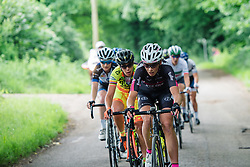 Eugenia Bujak in the break at Aviva Women's Tour 2016 - Stage 5. A 113.2 km road race from Northampton to Kettering, UK on June 19th 2016.